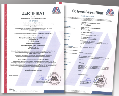 Zertifizierung unabdingbar